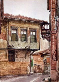 Dimitris Stathopoulos (1946-2017) – watercolor on paper http://67100.gr/stathopoulos/images/sokakia/indexe.php?path=./&page=1&idx=7