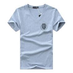 V-Neck T-Shirts For Men was designed by simple look. V-Neck T-Shirts For Men are made, of quality materials. It has a very elegant look with polite writing on its side. V-Neck T-Shirts For Men have, five different color options. V-Neck T-Shirts For M Mens Tee Shirts, Casual T Shirts, Classic T Shirts, Men Casual, Branded T Shirts, Workout Shirts, Shirt Style, Summer Men, Casual Summer