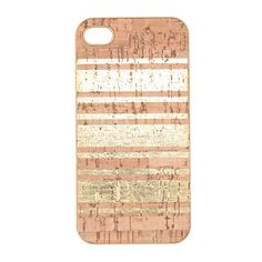 Gold-stripe cork case for iPhone® 4/4S - tech accessories - Women's accessories - J.Crew