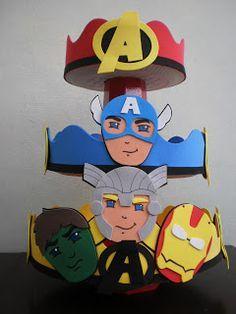 Ateliê Baú dos Sonhos: Festa Os Vingadores em E.V.A Superman Birthday, Superhero Birthday Party, 4th Birthday Parties, 3rd Birthday, Avenger Party, Iron Man Party, Birthday Decorations, Party Themes, Rescue Bots