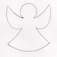 Simple standing three d paper angel video how to these for Angel tree decoration template