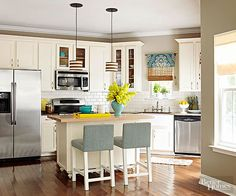 Update your kitchen decor with these affordable makeover ideas. Paint kitchen cabinets, add open shelving, or replace pendant lights to give your kitchen a fresh look on a budget.