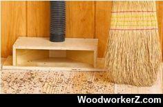 Woodworking Shop Dust collection chute for the garage Workshop Storage, Workshop Organization, Home Workshop, Garage Workshop, Workbench Organization, Workshop Ideas, Organization Ideas, Storage Ideas, Woodworking Workshop