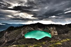 Kelimutu Three-Color Lakes in Indonesia