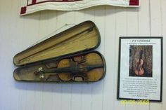 "Pa's actual fiddle at the Laura Ingalls Wilder Home and Museum in Mansfield, Missouri.  I remember when I saw it I just squealed, ""It's Pa's fiddle!""  I felt a bit embarrassed, but everyone around me just smiled because they understood."
