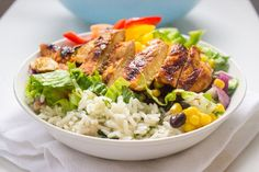 Chipotle's Chicken Burrito Bowl with Cilantro Lime Rice | Brunch Time Baker
