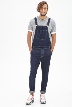 Classic Wash Denim Overalls | 21 MEN - 2000130059