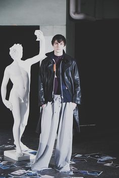 Robert Mapplethorpe inspirations and rave imagery at Martine Rose SS15, Fashion East at London Collections: Men. More images here: http://www.dazeddigital.com/fashion/article/20322/1/fashion-east-ss15
