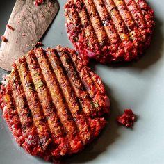 Vegetarische rode biet burger