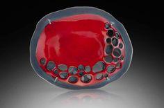 Red Burnout Pin/Pendant- LISA CROWDER-USA http://www.lisacrowder.com/