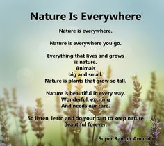 Nature is Everywhere, a poem by Super Ranger Amanda