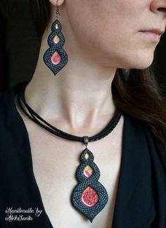 Dragon jewelry set Dragon pendant Dragon by HandmadeByAleksanta
