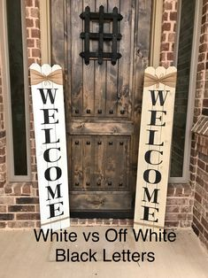 Rustic Welcome Sign 58 tall Welcome sign for Front   Etsy