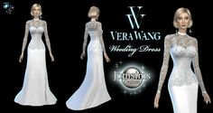 Long Wedding Dress The Sims 4 _ - Clove share Asia Sims 4 Wedding Dress, Long Wedding Dresses, The Sims, Sims Cc, Maxis, Sims 4 Blog, Sims 4 Dresses, Sims4 Clothes, Woman Clothing