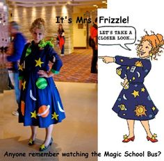 Mrs. Frizzle halloween costume. This is what I pictured for Halloween next year!