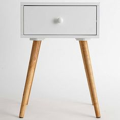 Side Table With Single Drawer - White | Target Australia