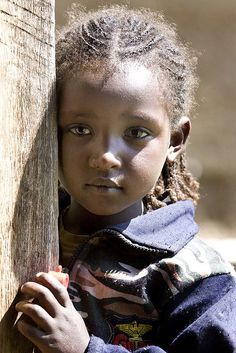 Africa |  Portrait of a young Ethiopia girl