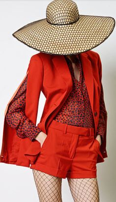 Jean Paul Gaultier - Red - Fashion - Photography - Hat - Pose Idea / Inspiration