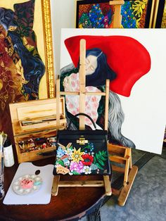 Hand painted Hermes kelly by Filipino artist love Marie aka actress Heart Evangelista Escudero Painted Bags, Hand Painted, Heart Evangelista Style, Diy Tote Bag, Photography Illustration, Embroidered Bag, Hermes Bags, Retail Therapy, Colorful Pictures