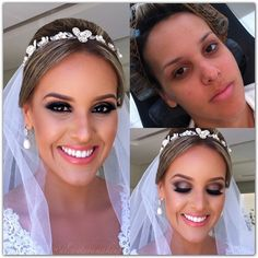 Bridal makeup @alcantaramakeup- lashes and golden smoke with pink lips...love before and after