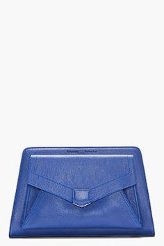 ShopStyle.com: PROENZA SCHOULER Royal Blue Leather PS13 Clutch