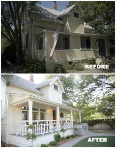 transformations are all about restoring historic homes back to their original glory.These transformations are all about restoring historic homes back to their original glory. Home Exterior Makeover, Exterior Remodel, Home Renovation, Home Remodeling, Before After Home, House Makeovers, Historic Homes, Old Houses, Nice Houses