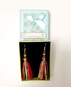 Tassels earrings hand made/ Cercei ciucuri realizaţi manual. Greek Pattern, Ceramic Angels, Flower Stands, On October 3rd, Coffee Set, Tassel Earrings, Tassels, Manual, Handmade