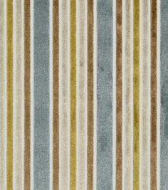 Upholstery Fabric-Robert Allen Multi Velvet Stripe Black-Sterling, , hi-res