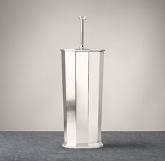Bathroom Accessories Restoration Hardware faceted metal accessories - toilet bowl brush | trash cans