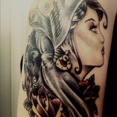 gypsy tattoo: how to pull it off ; Dragon Tattoo Back Piece, Dragon Sleeve Tattoos, I Tattoo, Cool Tattoos, Awesome Tattoos, Tatoos, Gypsy Girl Tattoos, Chris Garver Tattoo, Oldschool Tattoos