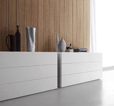 Cómoda lacada de madera de estilo moderno Elle Colección Letti_beds by Presotto Industrie Mobili | diseño Pierangelo Sciuto