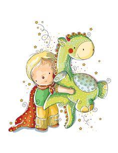 O Bernardo é um super-herói. Ele consegue pegar em dinossauros ao colo e dar-lhes asas com a sua capa.