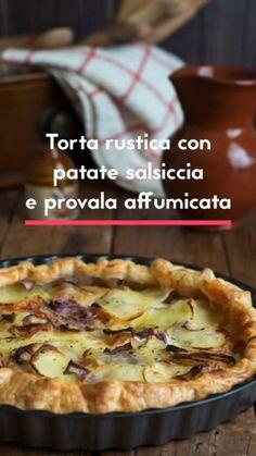 Light Recipes, My Recipes, Italian Recipes, Cooking Recipes, Flaky Pastry, Salty Cake, Pane, Creative Food, I Love Food