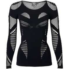 Mcq Alexander Mcqueen Long Sleeve Mesh Top ($215) ❤ liked on Polyvore featuring tops, shirts, long sleeves, black, mcq by alexander mcqueen, long sleeve mesh top, black top, shirts & tops and black mesh shirt