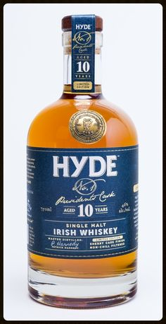 Hyde No. Reaches Maturity In The Mild West Irish Whiskey Brands, Single Malt Irish Whiskey, Scotch Whiskey, Bourbon Whiskey, Wine And Liquor, Liquor Bottles, Whisky Club, Rum Bottle, Whiskey Drinks