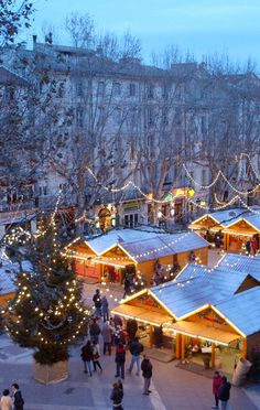 Noël en Provence, France, Christmas Markets