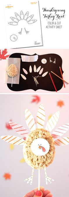 Thanksgiving Kids' Table Activities and Turkey Treats | FREE Printables to keep the kids busy