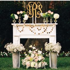 DIY mantle available for your event from Barrington Hill Design