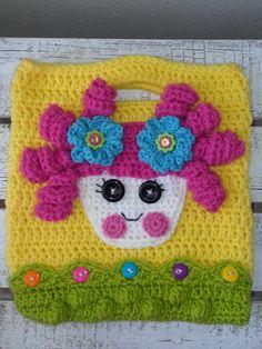 La La Loopsy  Crocheted   yellow inspired purse  by HeadsUpFashion, $28.00