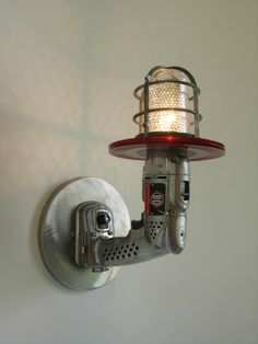 Industrial-style lighting, Ray gun sconce, wall-mounted lamp for Father's Day