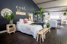 Industrial building fitted with IsoBoard. The board provides a beautiful finish and regulates the temperature. Heating And Cooling, Industrial Bedroom, Thermal Efficiency, Bedroom Design, Thermal Insulation, Industrial Buildings, Furniture, Bedroom Decor, Home Decor