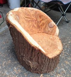 Furniture made from fallen logs on Pinterest