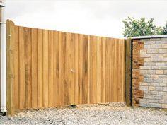 hardwood driveway gate - Richmond 5