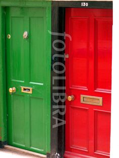 Red and green doors