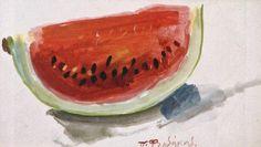 Φειδάκης Πάνος-Καρπούζι Sweet Watermelon, Fruit, Greek, Eat, Painters, Food, Artists, Summer, Drop Cloths