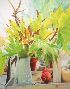 Maria Villioti - breaths of art: Still life Portrait Sketches, Art Sketches, Still Life, Drawings, Plants, Painting, Color, Collection, Painting Art