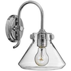 """Hinkley Congress 11 1/4"""" High Clear Glass Wall Sconce"""