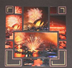 great way to scrap multiple photos of fire works rather than use so many pages when there are too many great pics to choose from.