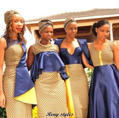 Awesome Collection of Traditional Shweshwe Attire For You - Reny styles African Print Dress Designs, African Print Fashion, African Design, African Fashion Dresses, African Style, African Outfits, African Traditional Wedding Dress, Traditional Outfits, Traditional Weddings
