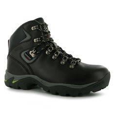 Karrimor Womens Ladies Skido Boots Lace Up Hiking Leather Walking Footwear Brown/Green 8 (42) ** Continue to the product at the image link.